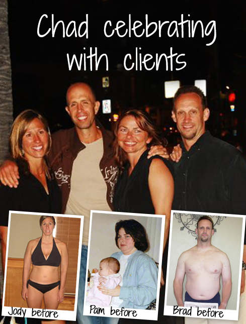Chad celebrating with clients